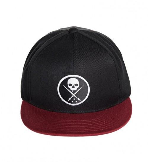 EDGED SNAPBACK HAT BLACK