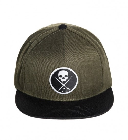 EDGED SNAPBACK HAT MILITARY GREEN