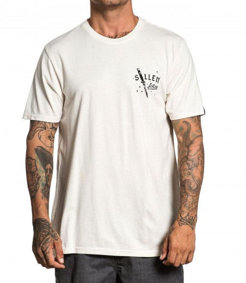 CUT OFF TEE WHITE CUP GREY