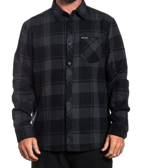 RAVEN FLANNEL BLACK/GUNMETAL